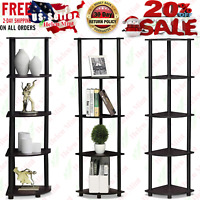 5 Tier Corner Shelf Storage Display Rack Bathroom Home Bookcase Wall Office Unit