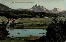 Igls Österreich Tirol AK ~1910 gelaufen Moosach Lansersee Lanser See Berge Alpen