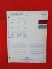 1967  triumph England  paint chip color code  chart    European old card