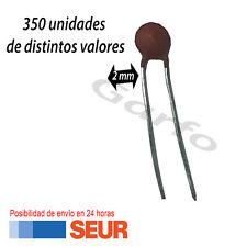 Kit 350 unidades condensador ceramico 20, 22, 30, 100, 220, 330, 470pF 50V