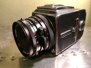 Hasselblad 500 CM Camera Body with Zeiss 80mm Lens and A12 Film Back