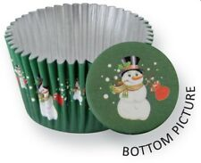 PME 30pk Snowman Foil Standard Cupcake Cup Cake Muffin Bake Party Baking Cases