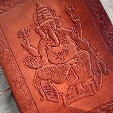 Ganesha Leather Journal Zen Yoga Diary Handmade paper travelers notebook gift