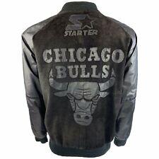 Vintage Starter Chicago Bulls Suede And Leather Bomber Jacket