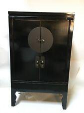 oriental antique black armoire wardrobe cabinet furniture