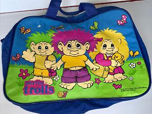 Vintage Norfin TROLLS 1992 PVC Overnight Duffel Travel Bag 90s Retro Multicolor