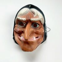 Vintage Witch Halloween Mask 1970s Plastic