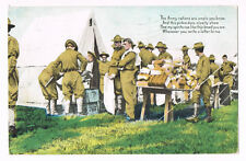 The Army rations are ample you know. Poem Writing Letters To Troops WWI Postcard