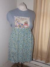 New listing Vintage Handmade Cotton Half Apron- Blue Flowered Pattern
