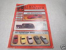 ARGUS DE LA MINIATURE N° 102 1988 les cadillac d elegance SCHUCO la serie stud *