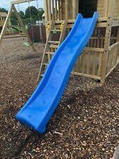 9ft 2.7 metre Children's Heavy Duty Blue Wavy Slide, Climbing Frame NEW 2.7m
