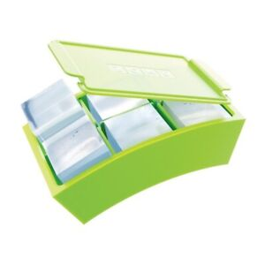 ZOKU Jumbo Ice Cube maker - Food safe silicone makes 12 perfect square ice cubes