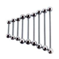 Steel Barbell Tongue Ring, Nipple, Body Piercing 12 Gauge