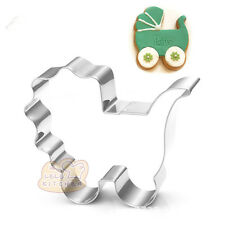 2 Pcs Packed Baby Pram Stainless Steel Cookie Dessert Fruit Cutter DIY Mould