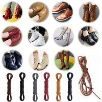 Round Waxed Shoelaces Oxford Dress Canvas Sneaker Shoe Laces Unisex Strings Sale