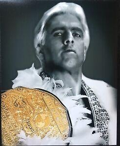 Ric Flair Wrestling Poster 12x18 WWE NWA WCW four Hoursemen