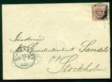 Denmark 1863, 16sk, rouletted tied on folded letter to Sweden, Nielsen cert
