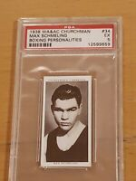 1938 Churchman Max Schmeling Boxing Personalities PSA 5 EX