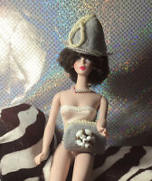 Dove Gray Hat And Pearl Bag Handbag Silkstone Barbie Rare OOAK Colors Lovely