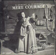GERMAINE MONTERO MERE COURAGE / BERTOLD BRECHT 33T 17cm BIEM CHANT DU MONDE 4007