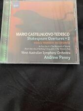 Mario Castelnuovo-Tedesco: Shakespeare Overtures, Vol. 2 CD Naxos italian 20th
