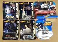 Star Wars HOT WHEELS lot of 6 - REAL RIDERS - DARTH LEIA R2-D2 & MORE