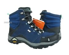 Ahnu Montara Boot Waterproof Midnight Blue Leather Boots Womens Size 7.5 *NIB*