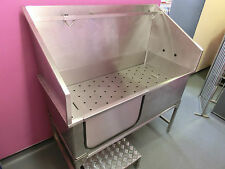 Professional Stainless Steel Dog Grooming Bath*THE ONLY ONE WITH CURVED CORNERS*