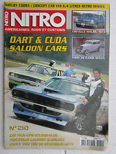 NITRO N° 210 /DART & CUDA SALOON CARS/CHEVELLE MALIBU '73/FORD 34 TUDOR SEDAN