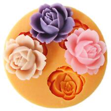 1PC 3D Silicone Rose Flower Fondant Mold Cake Decor Chocolate Sugarcraft Baking