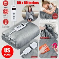 Auto Off Electric Heated Plush Throw Blanket Pain Relief Pads Fast Heating Throw