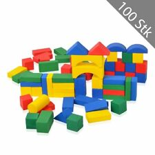 100 HSM Kinder Bauklötze Bausteine Holzbausteine Holzbauklötze Holzspielzeug