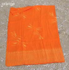Designer Strandtuch Pareo Wickeltuch Sarong  Libelle Dessin orange Baumwolle
