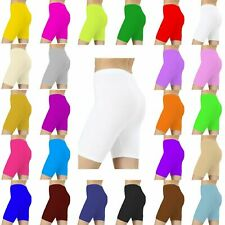 Kids Girls Children Neon Stretchy/Lycra Knee Shorts Cycling Pants Size 3-14 Year