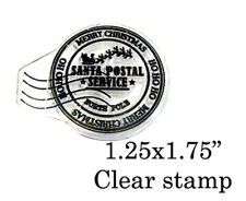 P62 Santa postmark clear un mounted rubber stamp