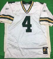 VTG Authentic Reebok Green Bay Packers Brett Favre Jersey SZ 54 On Field Pro Cut