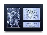 Sons Of Anarchy Signed A4 Framed Printed Autograph Charlie Hunnam Cast Print