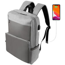 "Men's Gray School Laptop Bag Waterproof Anti-theft Backpack For 15"" Dell XPS 15"