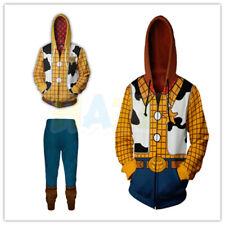 Toy Story 4 Woody Cosplay 3D Hoodie Sweatershirt Pants Costume Unisex Full Set