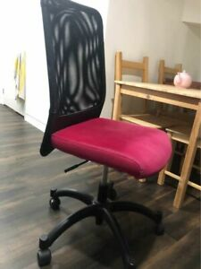 Computer chair - pink and black