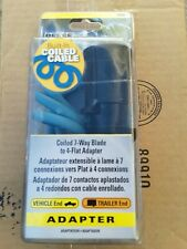 74686 Coiled 7-Way Blade 4-Flat Adapter Automotive
