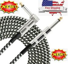 """NEW 10ft NOISELESS Electric Guitar Bass Cable Pedal AMP Cord 1/4"""" USA KEYBOARD"""