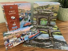 GIBSON First Catch & Crossing The Ribble 2 x 500 piece COMPLETE Jigsaw puzzles