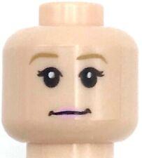 Lego New Light Flesh Minifigure Head Dual Sided Female Pink Lips Figure