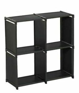 4 Tier Bookcase Shelving Display Shelves Storage Unit Shelf CONFORTIME