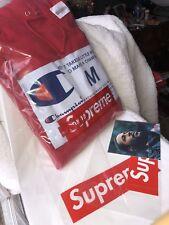 Supreme Champion Label Hooded SweatshirtFW18 - Red - Sz: Medium In Hand