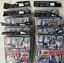 Lot of 8: 2008 Ultra Pro 4 Pocket Portfolios with Topps and Upper Deck Packs
