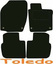 Tailored Deluxe Quality Car Mats Seat Toledo 2012-2017 ** Black **
