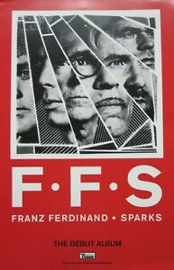 FRANZ FERDINAND SPARKS 2015 2 SIDED promotional poster Flawless New Old Stock