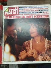 Paris Match N° 1389 10 janvier 1976 Mariage de Romy Schneider Kersanson Tournoux